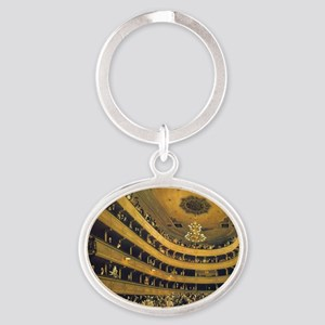 Old Burgtheater by Gustav Klimt Oval Keychain