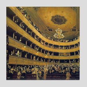 Old Burgtheater by Gustav Klimt Tile Coaster