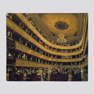 Old Burgtheater by Gustav Klimt Throw Blanket