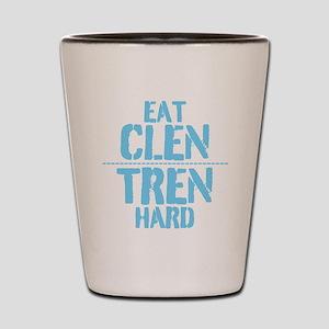 Eat Clen Tren Hard Light Blue Shot Glass