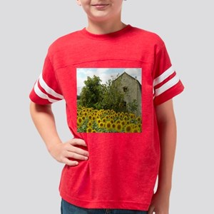 Sunflower Radiance  Youth Football Shirt