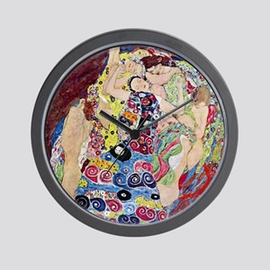 The Virgin By Gustav Klimt Wall Clock