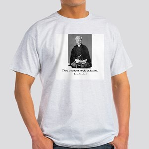 Gichin Funakoshi quote Ash Grey T-Shirt
