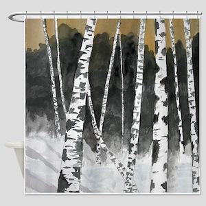birch treees Shower Curtain