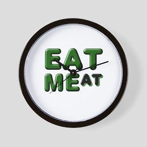 EAT MEat Wall Clock