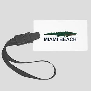 Miami Beach - Alligator Design. Large Luggage Tag