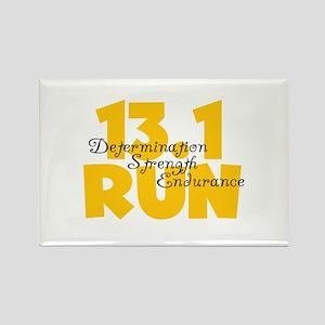 13.1 Run Yellow Rectangle Magnet