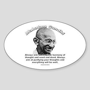 Mahatma Ghandi 01 Oval Sticker