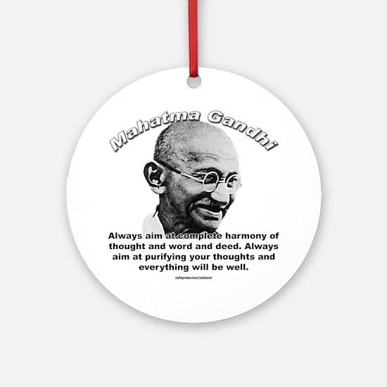 Mahatma Ghandi 01 Ornament (Round)