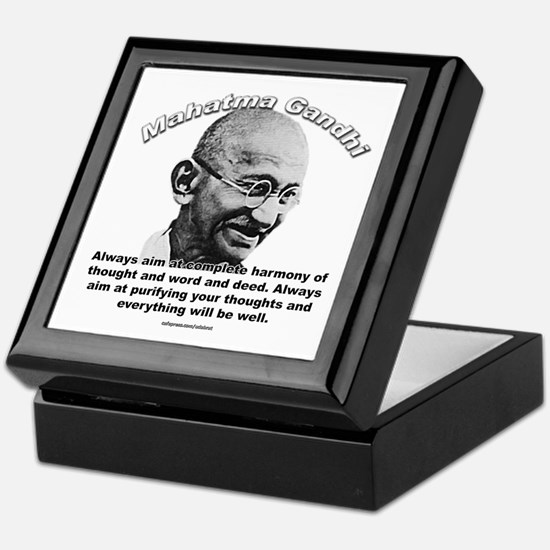 Mahatma Ghandi 01 Keepsake Box