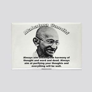 Mahatma Ghandi 01 Rectangle Magnet