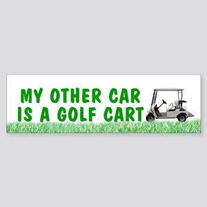 My Other Car is a Golf Cart bumper sticker