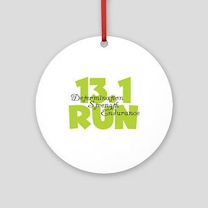 13.1 Run Yellow Ornament (Round)