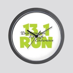 13.1 Run Yellow Wall Clock