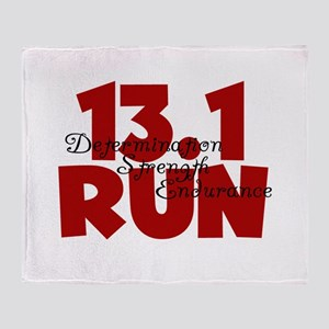 13.1 Run Red Throw Blanket