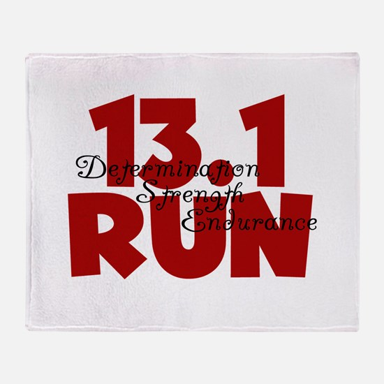 13.1 Run Red Throw Blanket