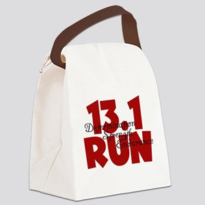 13.1 Run Red Canvas Lunch Bag
