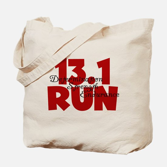13.1 Run Red Tote Bag