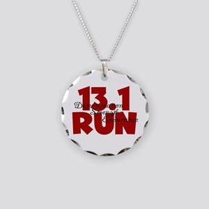 13.1 Run Red Necklace Circle Charm