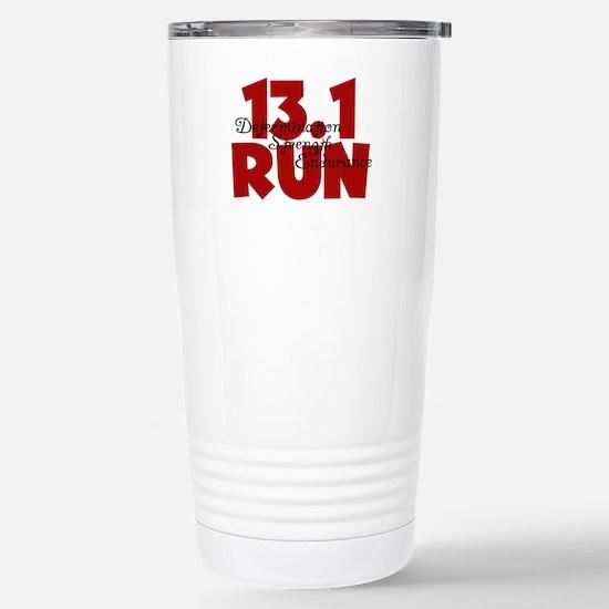 13.1 Run Red Stainless Steel Travel Mug