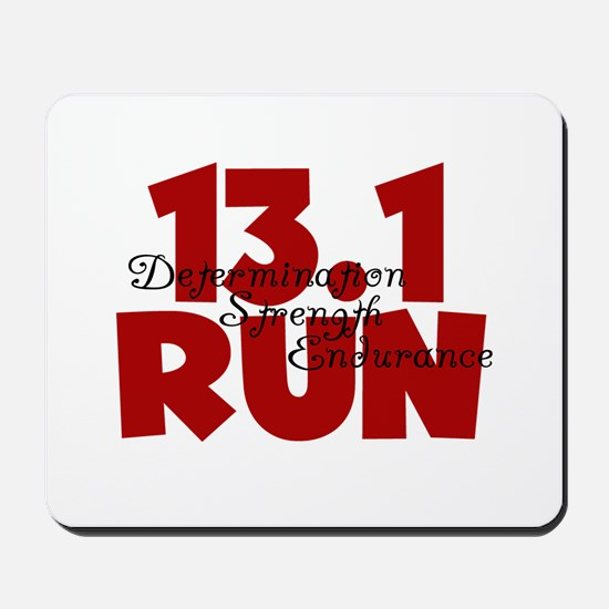 13.1 Run Red Mousepad