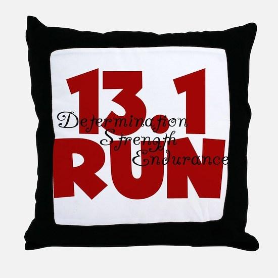 13.1 Run Red Throw Pillow