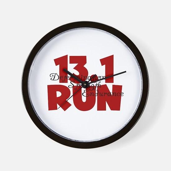 13.1 Run Red Wall Clock