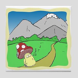 Toadstools Treasures Tile Coaster