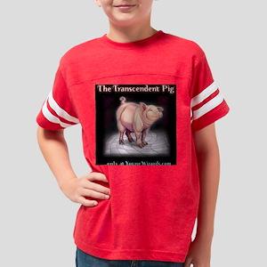 GotPigBlackTshirtBack Youth Football Shirt