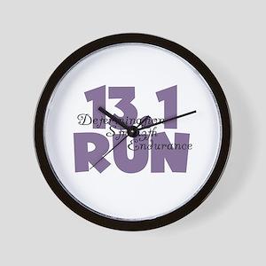13.1 Run Purple Wall Clock