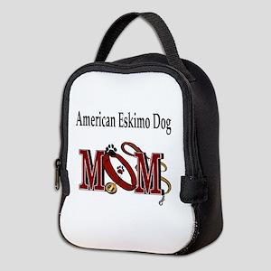 American Eskimo Dog Mom Neoprene Lunch Bag