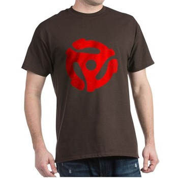 Red Distressed 45 RPM Adapter Dark T-Shirt
