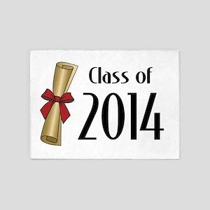 Class of 2014 Diploma 5'x7'Area Rug