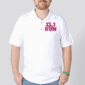 13.1 Run Pink Golf Shirt