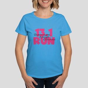 13.1 Run Pink Women's Dark T-Shirt