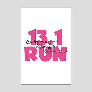 13.1 Run Pink Mini Poster Print