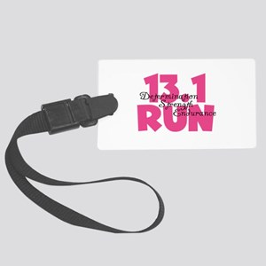 13.1 Run Pink Large Luggage Tag