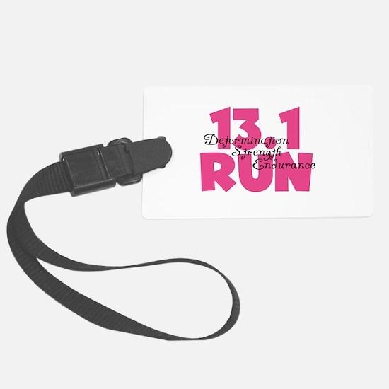 13.1 Run Pink Luggage Tag