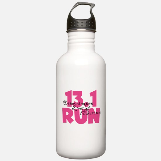 13.1 Run Pink Water Bottle