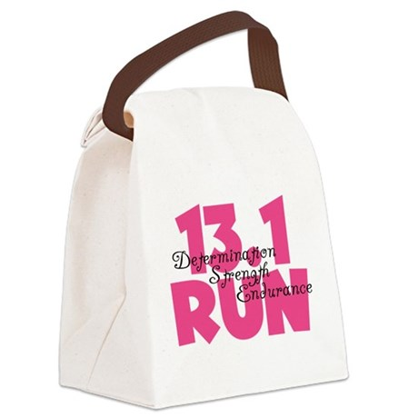 13.1 Run Pink Canvas Lunch Bag