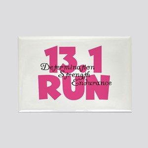 13.1 Run Pink Rectangle Magnet