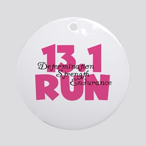 13.1 Run Pink Ornament (Round)
