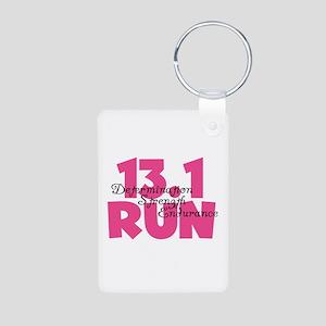 13.1 Run Pink Aluminum Photo Keychain