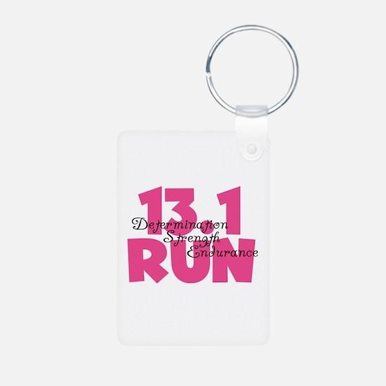13.1 Run Pink Keychains