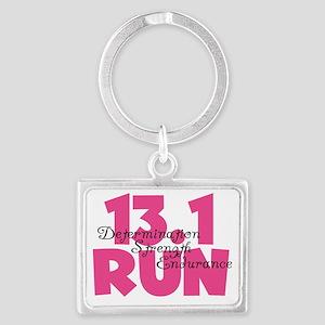 13.1 Run Pink Landscape Keychain