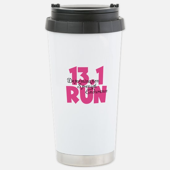 13.1 Run Pink Stainless Steel Travel Mug