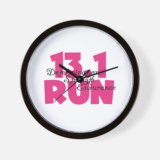 13.1 Run Pink Wall Clock