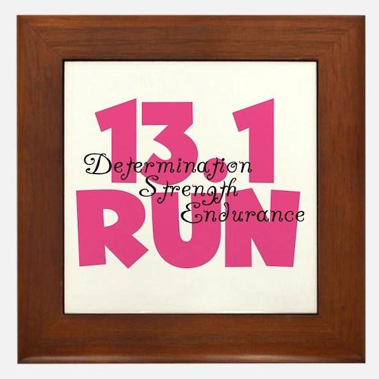 13.1 Run Pink Framed Tile