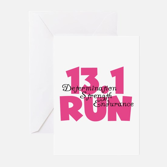 13.1 Run Pink Greeting Cards (Pk of 10)