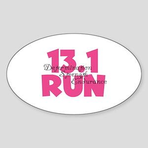 13.1 Run Pink Sticker (Oval)